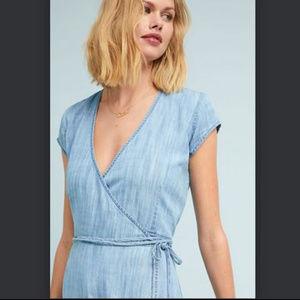 539bcc3dd cloth & stone Dresses   Nwot Cloth Stone Denim Juniper Wrap Dress ...